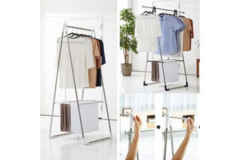 Clothes Airer Laundry Drying Hanger Rack Rail Extendable Top Rail