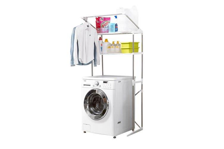 Adjustable Clothes Storage Rack Over Laundry Washing Machine Shelf Organiser