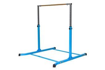 Gymnastic Horizontal Bar Sports Junior Training Bar Adjustable Height Kip Bar - Blue