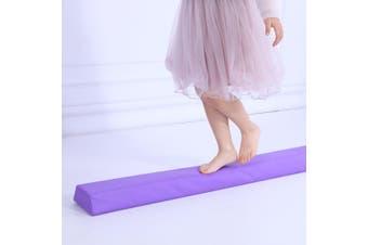 Starter Folding Gymnastics Balance Beam Practice Safe Balance Beam for Kids 240cm/270cm - Purple