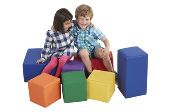 Baby Kids Large Soft Block Playset Safe Active Toys Playroom Building Blocks 7pcs