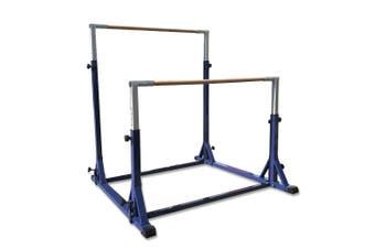 Advanced Fibreglass Rail Gymnastic Double Horizontal Bar Uneven Bars - Blue