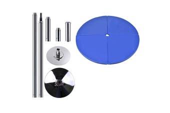 Portable Pole Dancing Set Dancing Pole with 160cm Dancing Mat - Blue