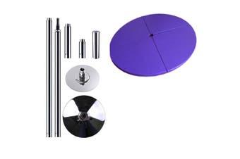 Portable Pole Dancing Set Dancing Pole with 160cm Dancing Mat - Purple