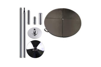 Portable Pole Dancing Set Dancing Pole with 160cm Dancing Mat - Black