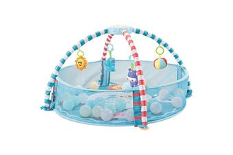 Baby Music and Sound Toys Activity Gym Centre & Ball Pit Infant Floor Mat - Blue