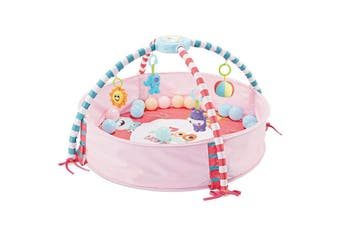 Baby Music and Sound Toys Activity Gym Centre & Ball Pit Infant Floor Mat - Pink
