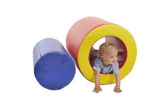 Baby Toddler Large Soft Foam Block Toys Tumble n' Roll Barrels of Foam Playset 2PCS