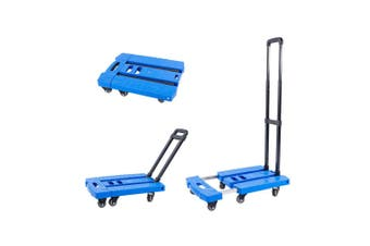 Folding Hand Truck Dolly Trolley Cart 6 Wheels 360 Rotating Extendable Platform