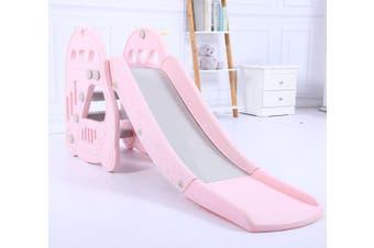 Large Kids Slide Basketball Hoop Indoor Play Slide Set Home Playground - Pink
