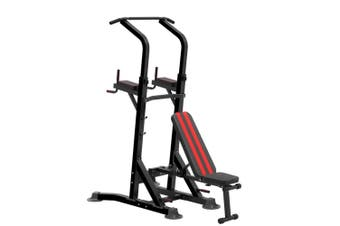KingKang Multi-Function Power Tower Station Pull Up Bar w/ Dumbbell Bench Roman Chair Dip Station