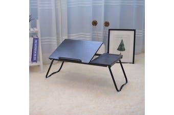 ZASS Laptop Bed Table Adjustable Laptop Bed Stand Portable Laptop Desk - Black