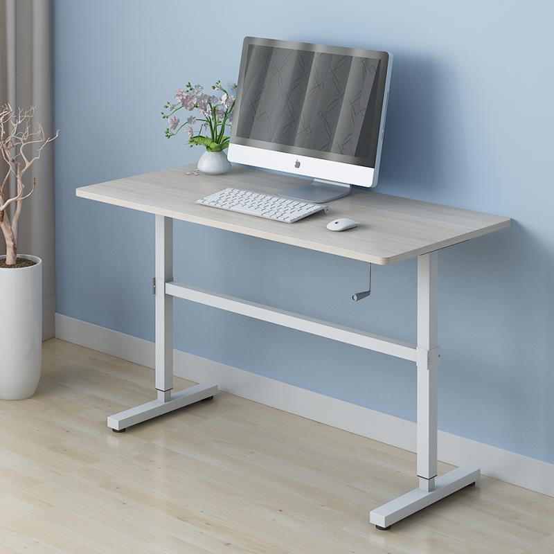 Zass Stand Up Table Sit Stand Desk Height Adjustable Table Laptop Desks Home Office Manual Adj Maple Matt Blatt