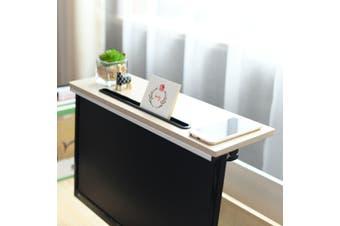ZASS Mountable Monitor/TV/Screen Top Shelf Monitor Mount Organiser - White Maple