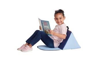 Kids Soft Block Sofa Carrying Reading Seat Cushion - Blue