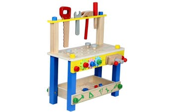 Kids Tool Stand Set Wooden Workbench Toy Pretend Play for Boys