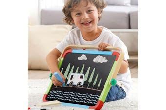 Children Wooden Tabletop Easel w/ Double-sided Whiteboard Chalkboard Art Crafts Portable Easel