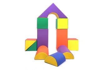Baby Toddler Large Soft Foam Building Block Indoor Foam Block Castle Playset 11pcs - Size L