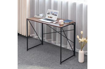 Folding Computer Desk Modern Simple Study Desk Industrial Style Laptop Table Home Office
