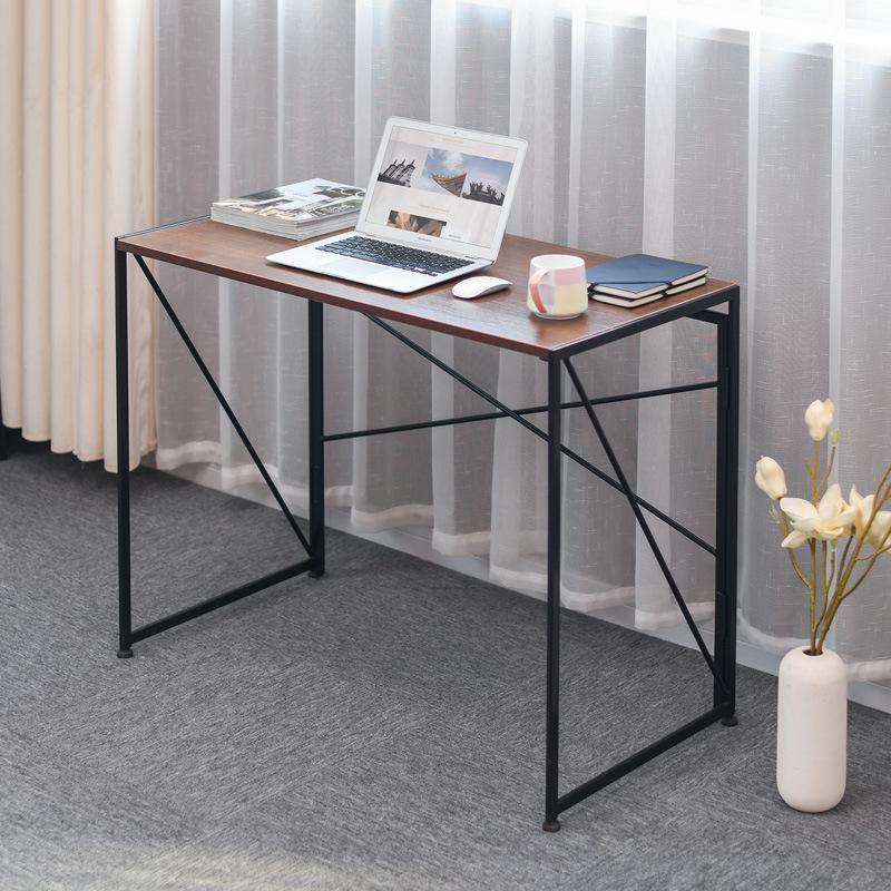 Image of: Folding Computer Desk Modern Simple Study Desk Industrial Style Laptop Table Home Office Kogan Com