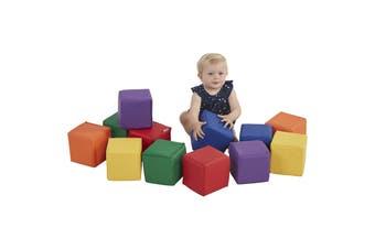 Baby Kids Soft Block Playset Toys Active Playroom Building Blocks 12pcs - Large