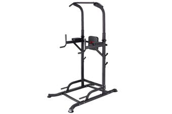 KingKang Multi-Function Power Tower Workout Pull Up & Dip Station Adjustable Height with Barbell Stands