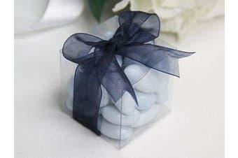 10 Piece Pack - Clear Plastic 6cm Square Cube Gift Box - Wedding Anniversary Birthday Macaron