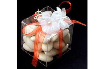 10 Piece Pack -PVC 7cm Square Gift Box - Wedding Bomboniere Cup Cake - Corporate Give Away