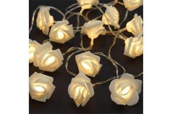White Rose romantic wedding party decoration fairy lights