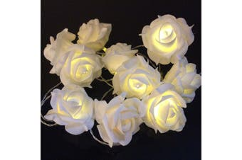 35 White Rose romantic wedding party Decoration fairy lights