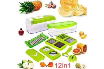 5 x Vegetable Chopper Slicer & Dicer, Peeler & Grater 12pcs