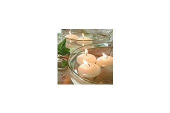 6 Hour Ivory Floating Wedding or Event Candles - 10 pack