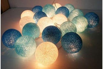 Blue Ball Fairy Lights on a 10 Metre Wire String - Wedding Decoration