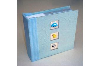 Baby Boy Blue Photo Album - Keepsake or Gift  - 100 Photo Sleeve