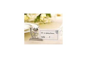 Bride Gown and Groom tux Name Card Place Stand - Wedding Party