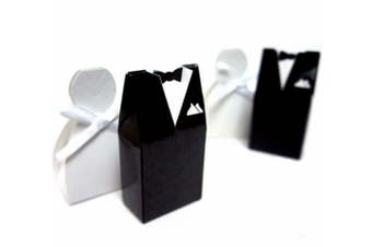 Bride Gown and Groom Tux Wedding Bomboniere Favor Box - NW - Free Post