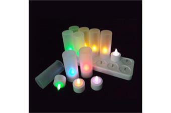 12 Pack Rechargeable Tealight Candles - Colour Changing - Weddings, Party, Cafe, Restaurant, Church, Table Decoration