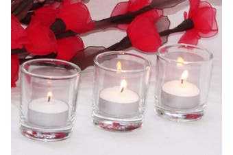Clear Glass Tea Light Candle Holder - Medium 6.5cm high - Table Room Decoration