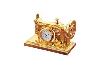 Gold Sewing Machine Clock - desktop ornamental mother day birthday gift