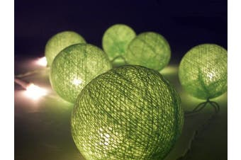 Spring Greens Ball LED Fairy Lights - battery power - party table Decoration