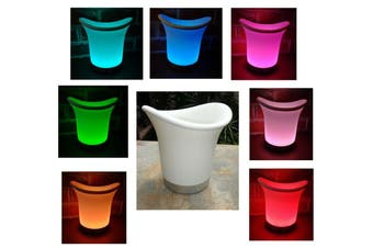 LED Colour Changing Ice Bucket + Remote - Rechargeable Battery and/or Mains Power in 1
