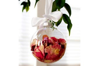 8cm glass memory bauble table tree centrepice personal theme advent message