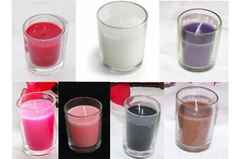 Mixed Wax and Glass Colour - 6cm Votive Candles