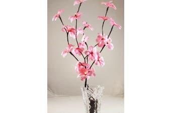Pink Frangipani Bunch Stem - fairy lights - 50cm high 20 bulbs/petals