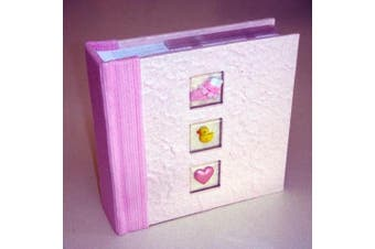 Baby Girl Pink Photo Album - Keepsake or Gift  - 100 Photo Sleeves