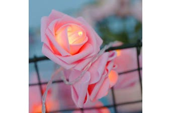 Pink Rose Fairy Lights LED on a battery pack - Portable table Lights