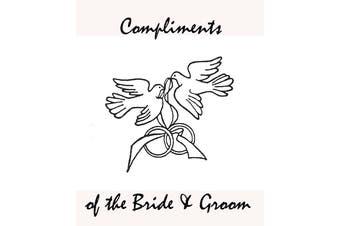 Wedding Anniversary Bonbonniere Cake Bags - Silver Doves - food grade