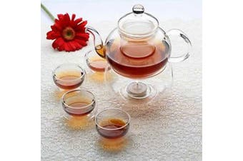 Gongfu Chinese Ceremony Tea Set - 6 cups - Glass