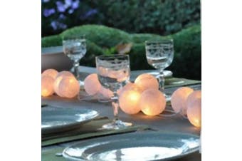 White Ball LED Fairy Lights - battery power - wedidng table Decoration