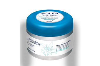 Solea Skincare - Hyaluro+ Cream Body and Face - Hyaluronic Acid - Organic Edelweiss and Thermal Water from Switzerland - Dermatologist Approved - 200ml Jar